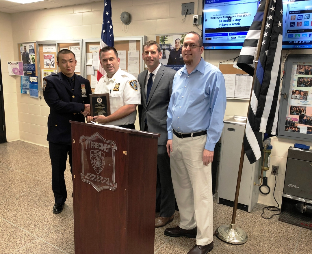 On October 2, 2018, Assemblyman Braunstein attended the 111th Precinct Community Council meeting.