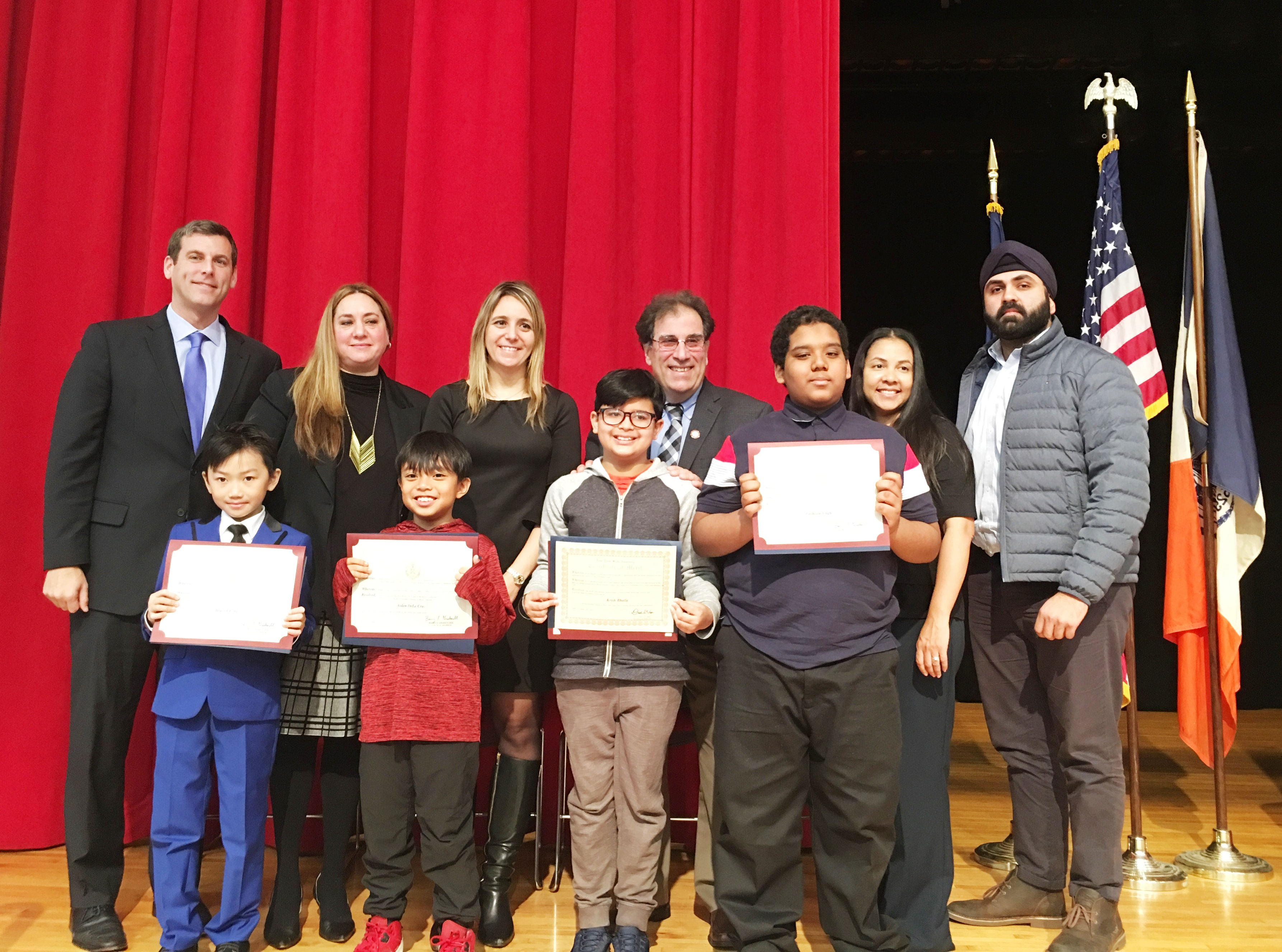 On November 14, 2018, Assemblyman Braunstein attended PS 115's Student Council Installation Ceremony in Floral Park