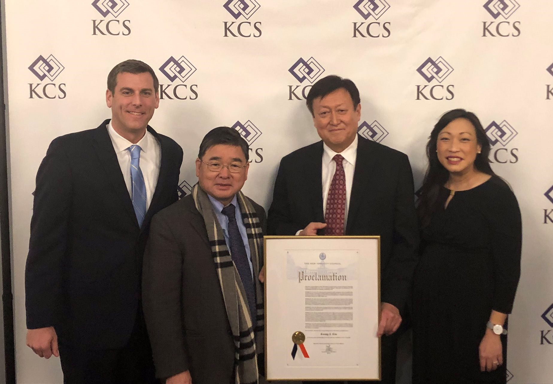 On December 19, 2018, Assemblyman Braunstein attended the retirement party for Kwang Suk Kim, President of Korean Community Services of Metropolitan New York, Inc.