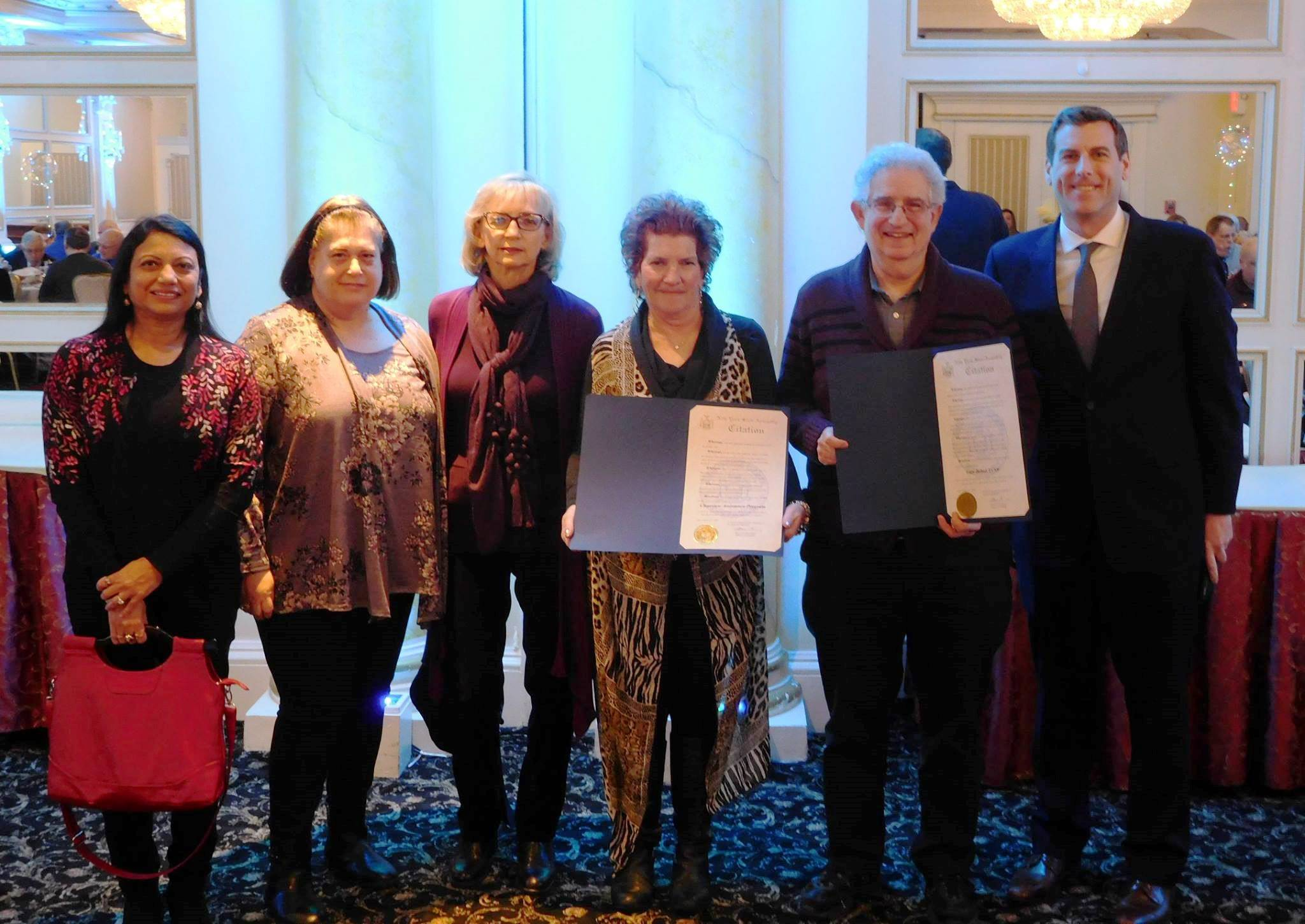 On January 25, 2019, Assemblyman Braunstein attended the 25th Anniversary Celebratory Luncheon for the Clearview Assistance Program (CAP). Assemblyman Braunstein presented a New York State Assembly Ci