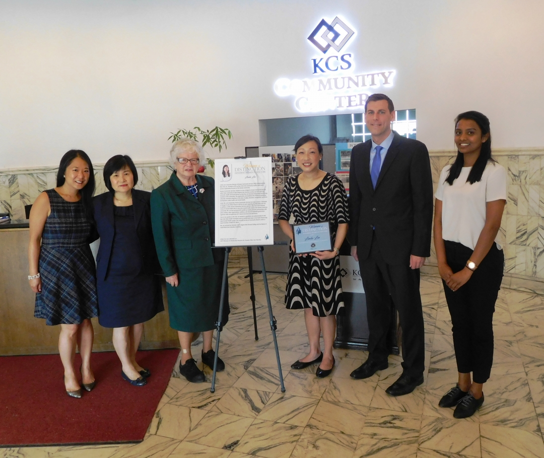 On May 17, 2019, Assemblyman Braunstein joined Senator Toby Stavisky in honoring Linda Lee, Executive Director of Korean Community Services of Metropolitan New York, Inc., for her service to our commu