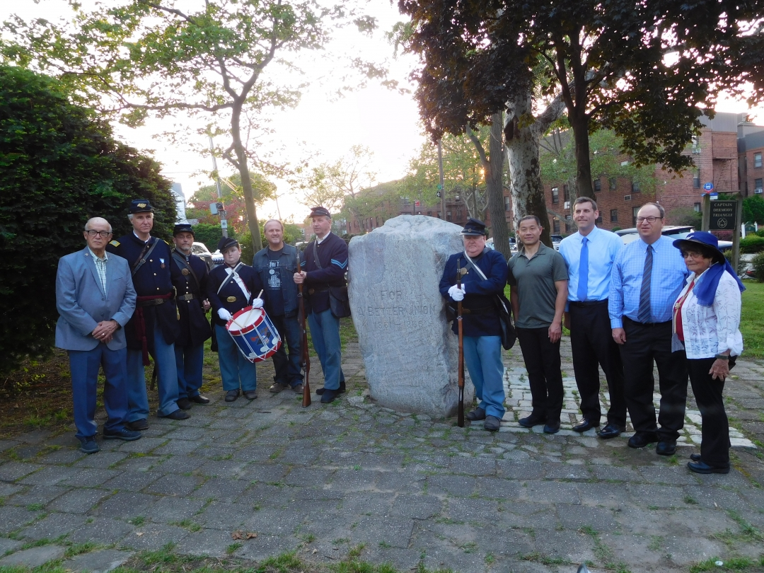 On May 31, 2019, Assemblyman Braunstein attended the Bayside Historical Society's Dermody Triangle Memorial Ceremony in honor of Capt. William C. Dermody, a Bayside resident and abolitionist, who
