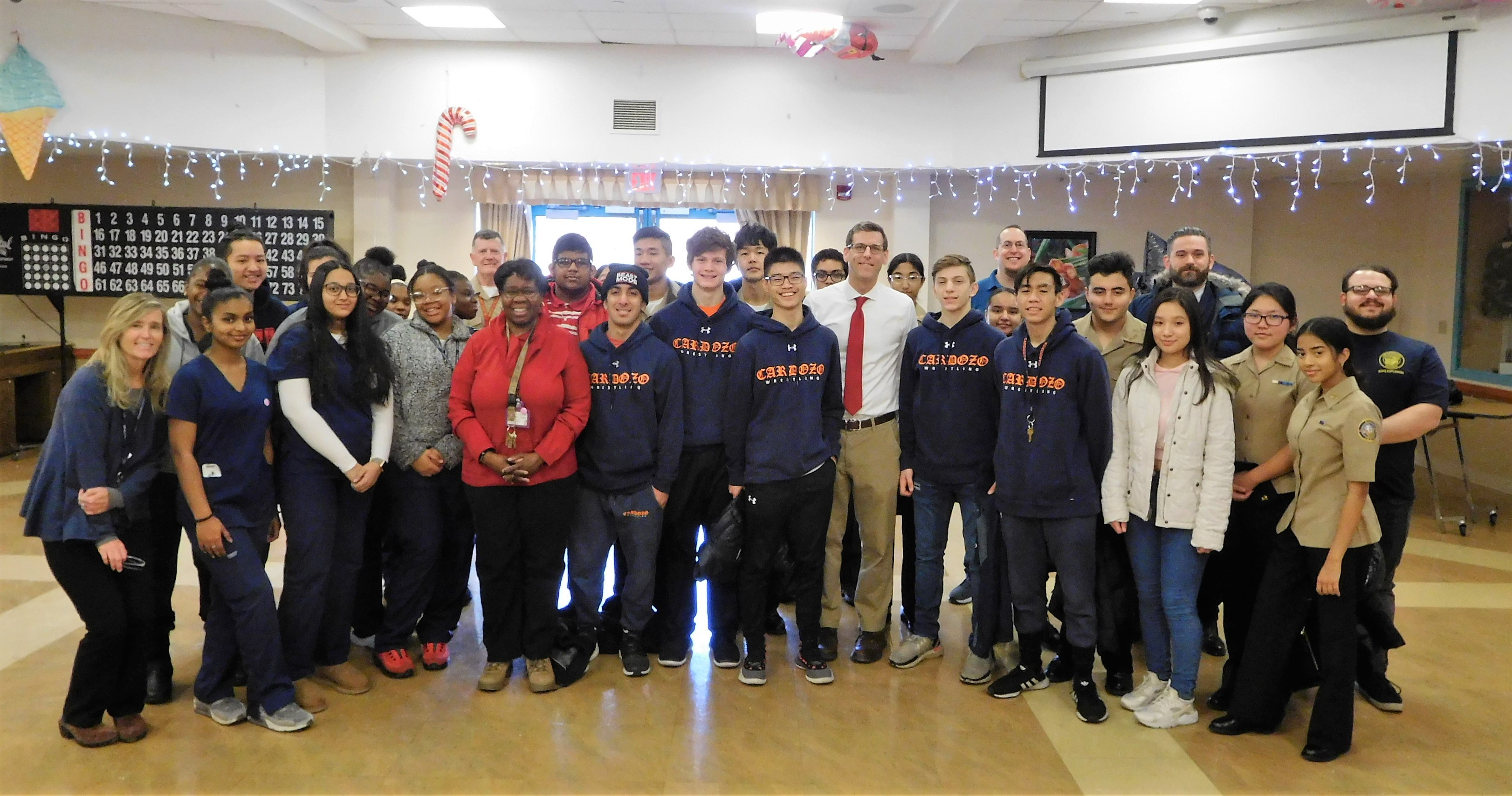 On December 20, 2019, Assemblyman Braunstein, his staff, students and faculty from Benjamin N. Cardozo High School, and students from Campus Magnet Institute for Health Professions at Cambria Heights