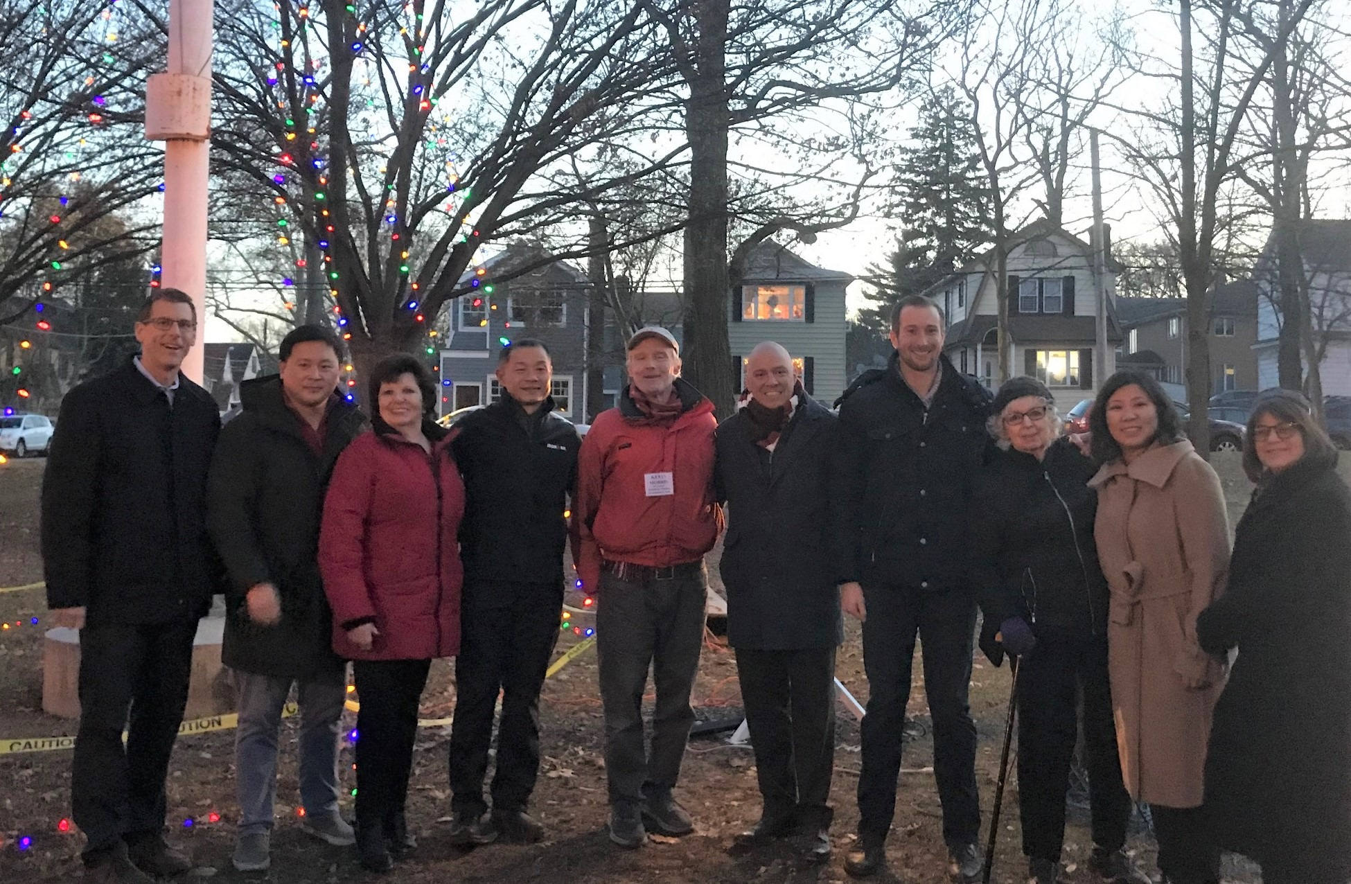 On December 22, 2019, Assemblyman Braunstein attended the Bowne Park Civic Association and Broadway-Flushing Homeowner's Association Annual Holiday Tree/Menorah Lighting in Bowne Park.