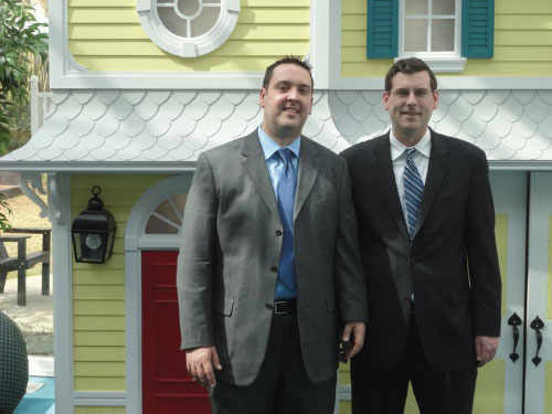 Assemblyman Braunstein along with Matthew Campo, Executive Director of the Ronald McDonald House of Long Island.