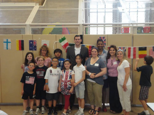 Assemblyman Braunstein, pictured here with Principal Sheila Huggins and Parent Coordinator Deborah Govier, visited PS 98 on Friday, May 27 for the International Food Festival, a great opportunity for students in Douglaston to learn about different cultures and cuisines.