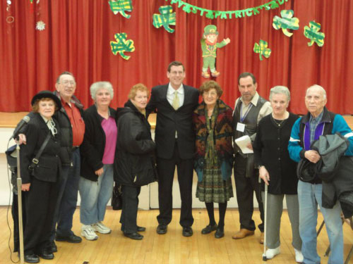Assemblyman Braunstein and members of Selfhelp Clearview Senior Center in Bay Terrace where the Assemblyman pledged to fight against the proposed budget cuts to senior centers which would force Selfhelp Clearview to shut down.