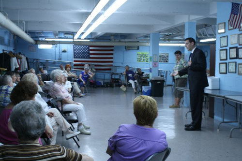 Assemblyman Braunstein met with residents of the North Flushing Senior Center and Director Roberta Goldenberg on Monday, June 27, 2011.