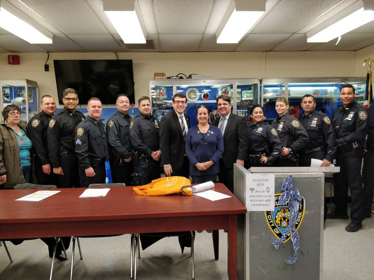 Assemblymember Rosenthal welcomed the newest Neighborhood Coordination Officers to the 107th Precinct