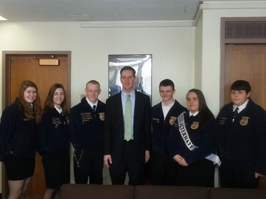 Assemblyman Hevesi meets with Future Farmers of America on February 11th, 2014.