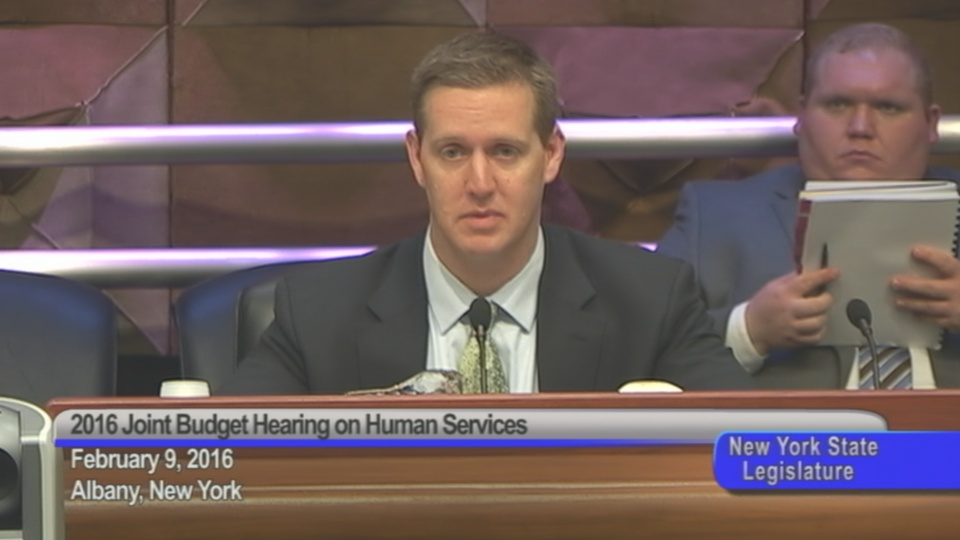 Assemblyman Hevesi Questions Human Services Council Associate Director and General Counsel Michelle Jackson