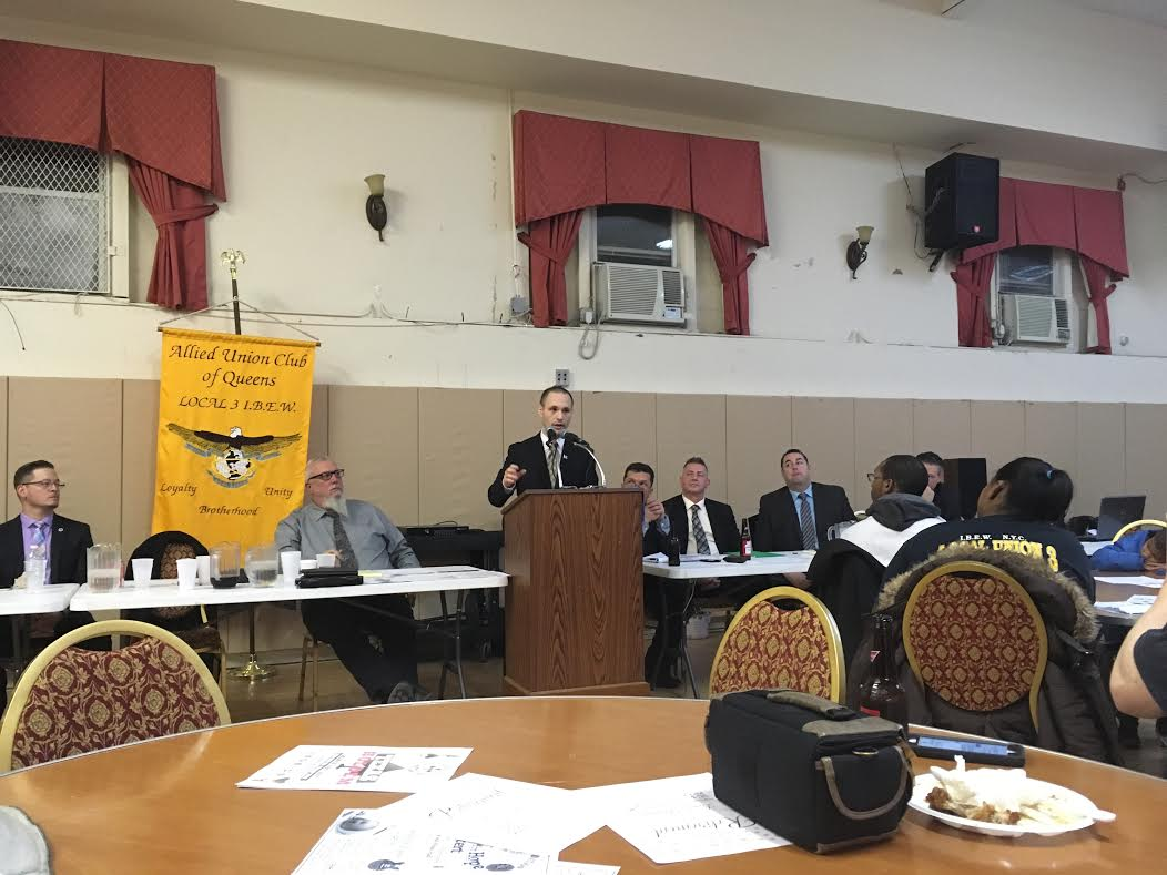 On February 1, 2017, Assemblyman Barnwell had the privilege of being the guest speaker at Local Union 3 IBEW's monthly meeting.<br />