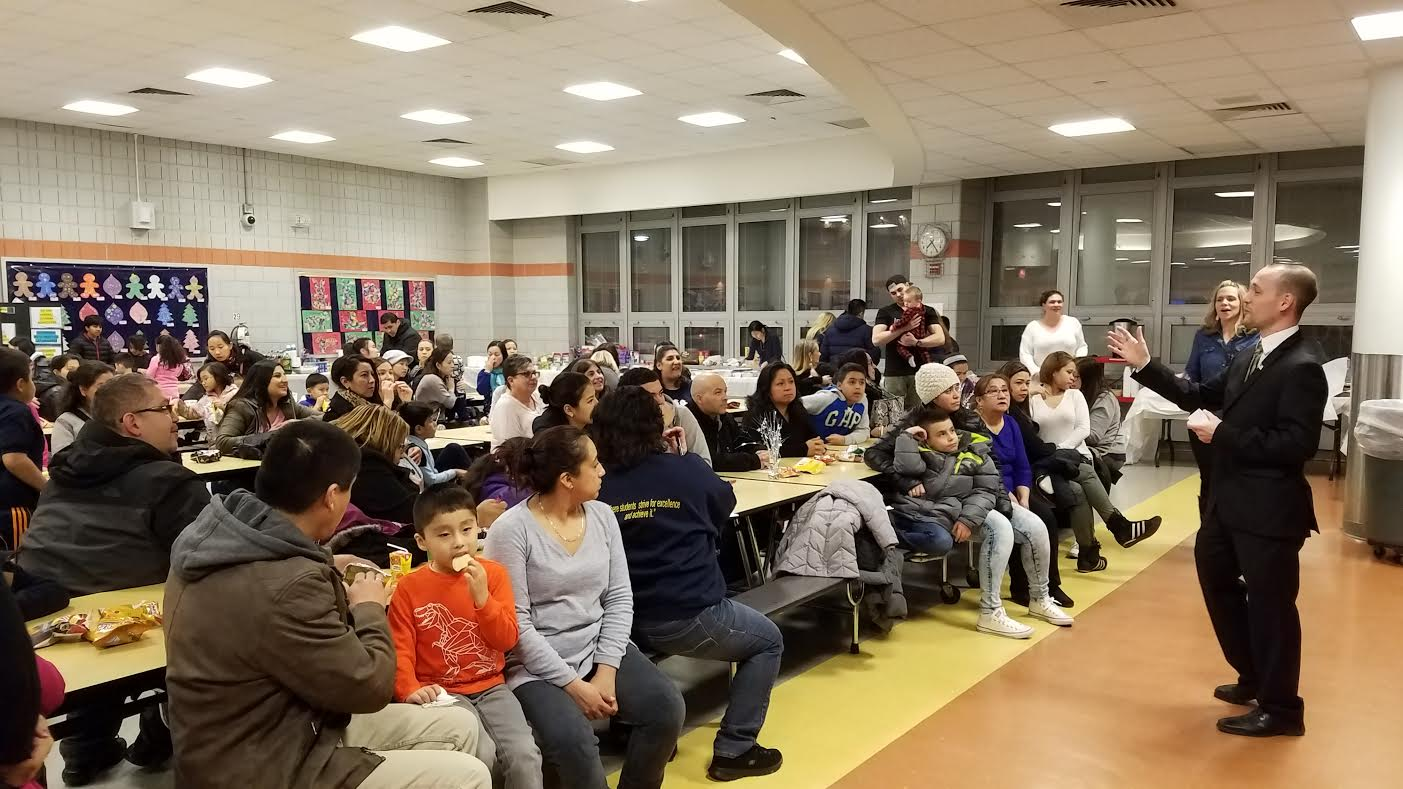 On February 1, 2017, Assemblyman Barnwell visited PS 58 School of Heroes to introduce himself to the parents and students.<br />