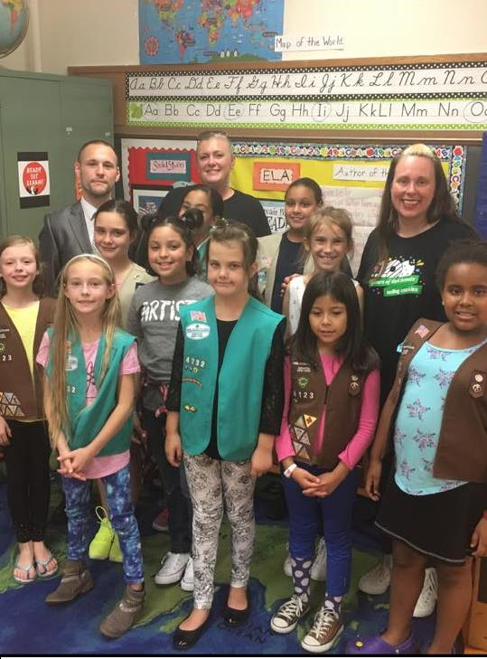 On September 15th, Assemblyman Barnwell joined local girl scouts to discuss how important community service is.<br />
