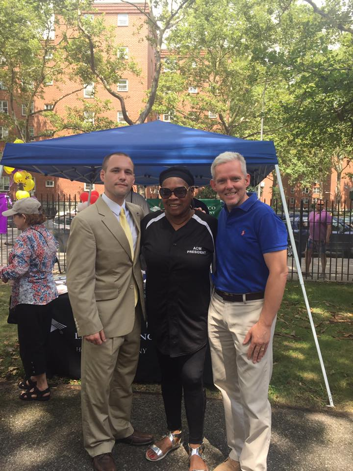 On July 15th, Assemblyman Barnwell joined the Woodside Houses community for their annual family day.<br />