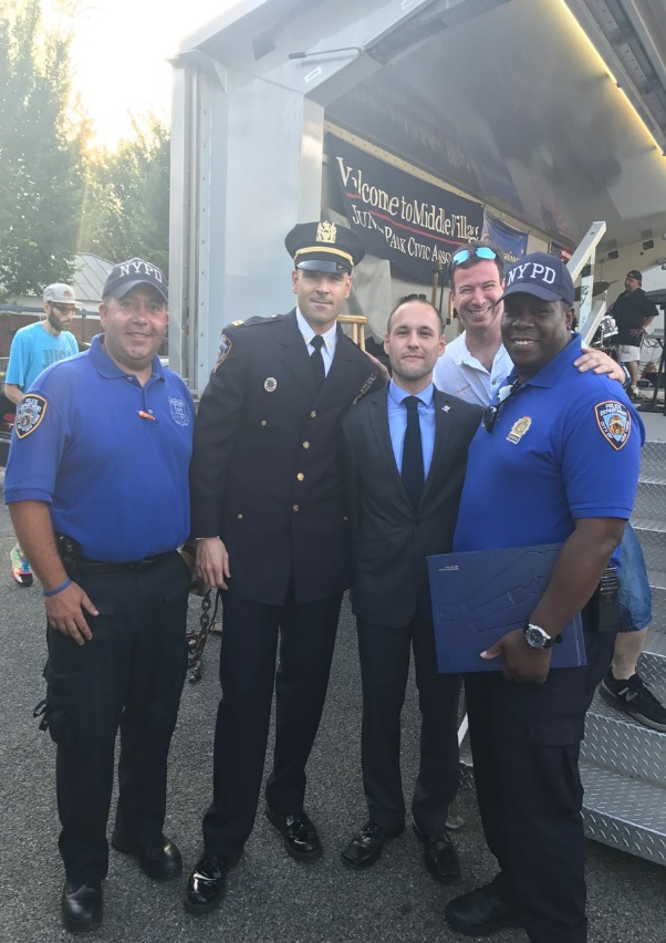 On August 1st, Assemblyman Barnwell participated in National Night Out Against Crime in all four locations in the district: Astoria Park, Juniper Valley Park, Windmuller Park, and Woodside Houses. We cannot thank our officers enough for the work they do in keeping our neighborhoods safe.