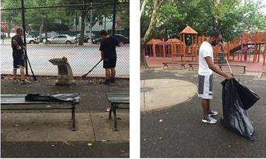 On August 12th, Assemblyman Barnwell's office and volunteers helped clean-up Little Bush Park (Nathan Weidenbaum) Park<br />