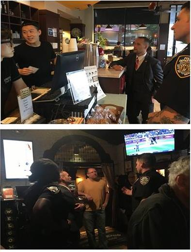 On August 25th, Assemblyman Barnwell, joined the 108th Precinct and conducted a walk-through of the small businesses located in Woodside to address their issues/concerns.<br />