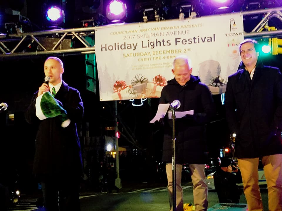 I joined my colleagues at the Holiday Lights Festival in Sunnyside.