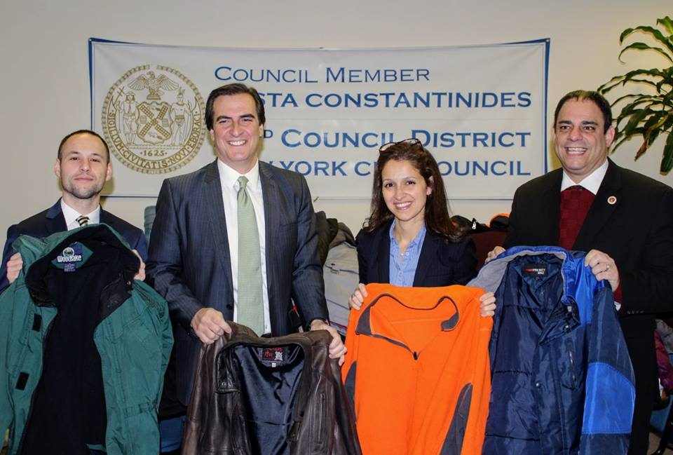We collected hundreds of coats for our annual coat drive.  No New Yorker should be without a coat in the cold weather.