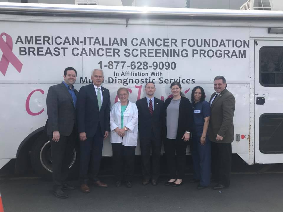 I joined my colleagues in government and the American-Italian Cancer Foundation in helping to sponsor free mammograms to those in the community who do not have health insurance.  Early detection is vi