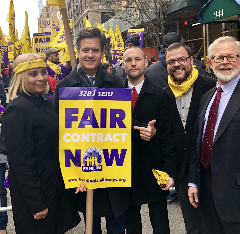 I stood with my colleagues in government in supporting 32BJ SEIU's efforts to obtain a fair contract.