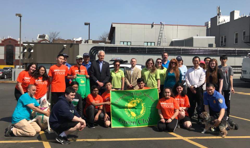I joined local civic leaders, police precincts, Maspeth High School, the Animal Care Centers of NYC, and my colleagues in government to sponsor an Earth Day Event.  Individuals were able to recycle th