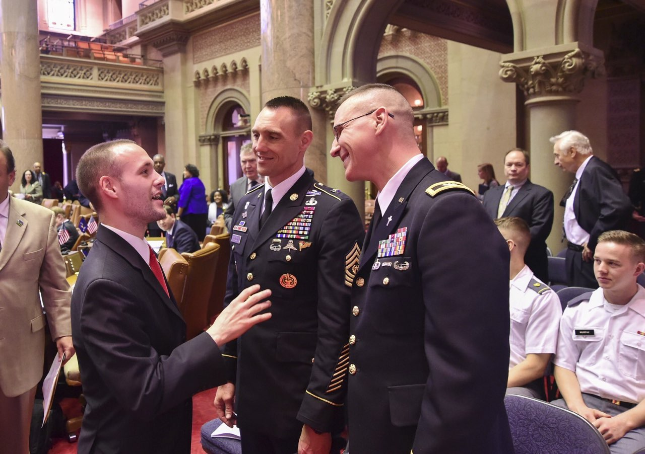 Assemblymember Barnwell talks with military leaders from West Point