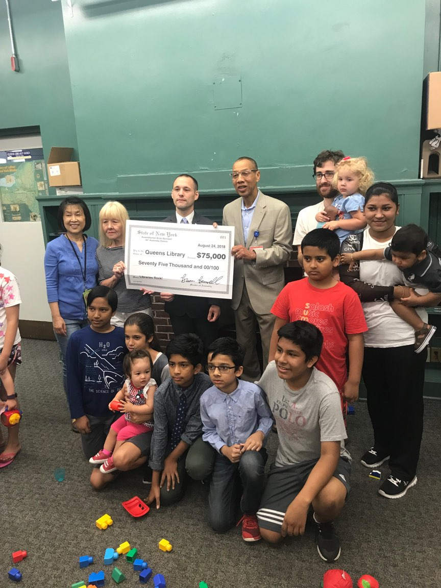 I was proud to secure and present 75k in funding for neighborhood libraries.