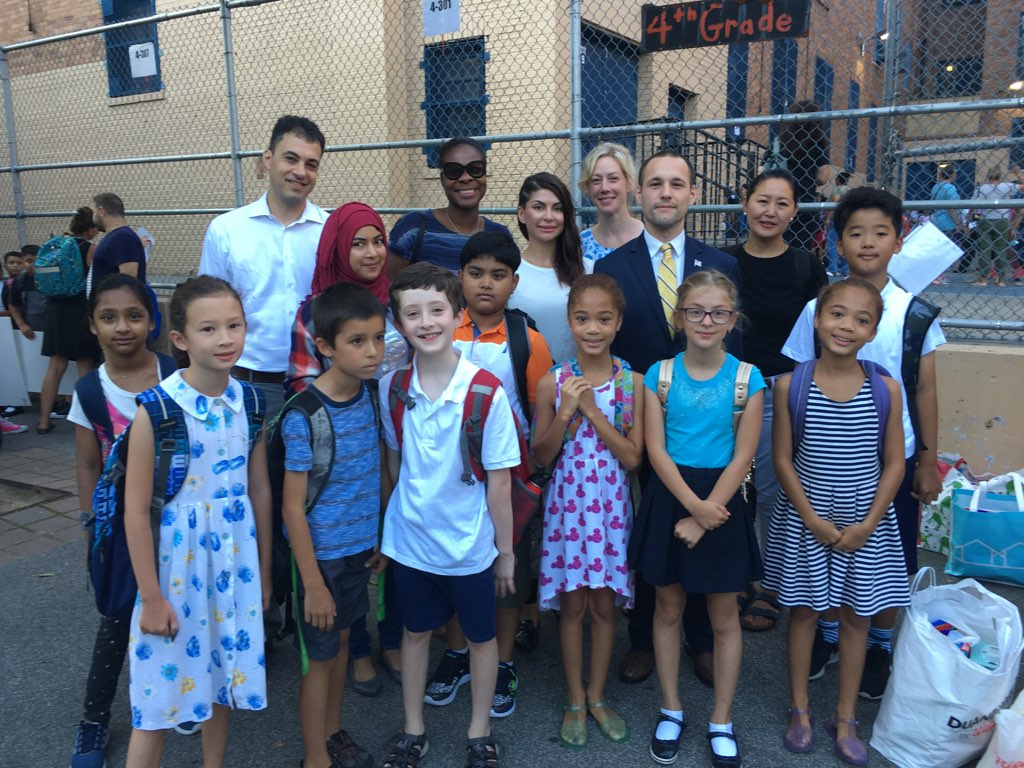 I joined students around the community to welcome them to their First Day of School.