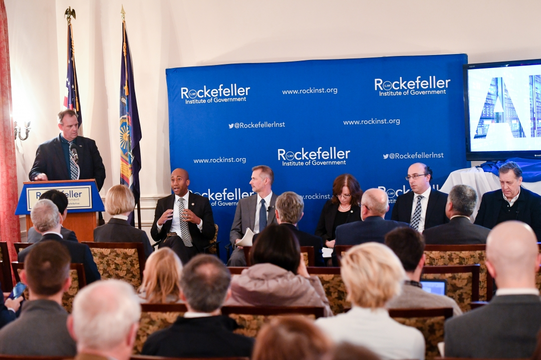 Assembly member Vanel Speaking at Rockefeller Institute of Government