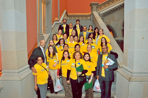 Representatives from The Plaza Del SOL Family Health Center of Corona NY visit Assemblyman Aubry at the Capitol.