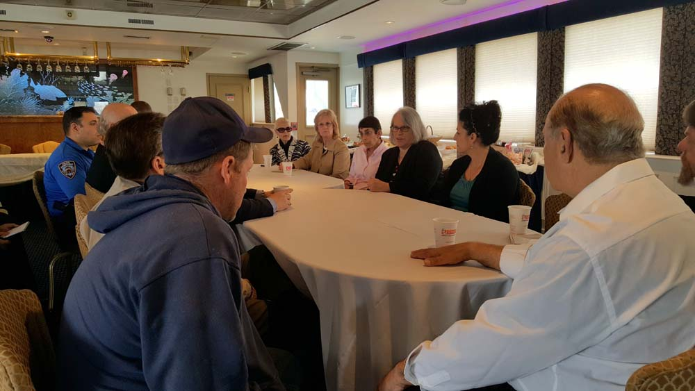 Sheepshead Bay boat owners met with local elected officials and representatives from the Parks Department and NYPD to review procedures to ensure their boating events don't affect the quality of life for local residents during the summer tourist season.