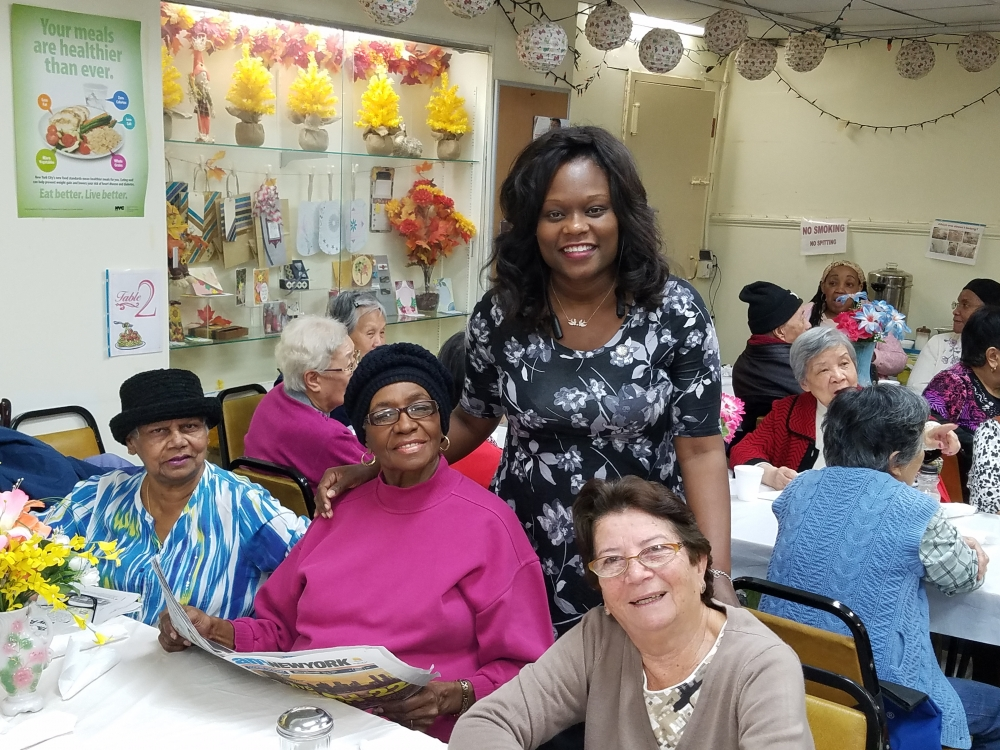 Assemblymember Bichotte donated turkeys to Dorchester Senior Center and joined the seniors for their Thanksgiving luncheon.