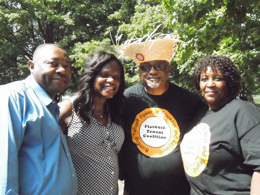 Assemblymember Bichotte joined members of the Flatbush Tenant Coalition (FTC) at their annual picnic. Pictured here are FTC members Thomas Williams, and Betty King.