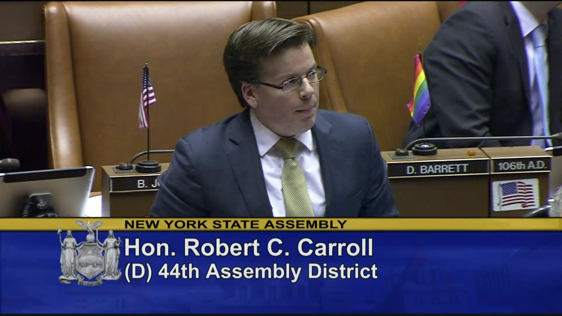 Carroll Explains Vote on State Budget