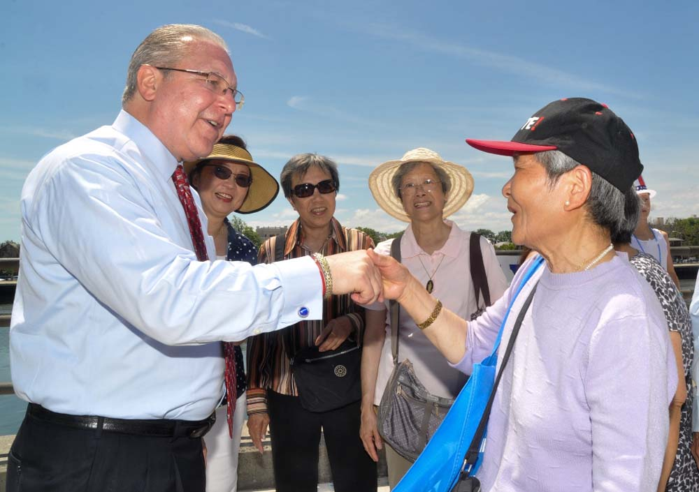 Assemblyman Steven Cymbrowitz greets area residents during his 11th Annual Lena Cymbrowitz Community Health Fair.