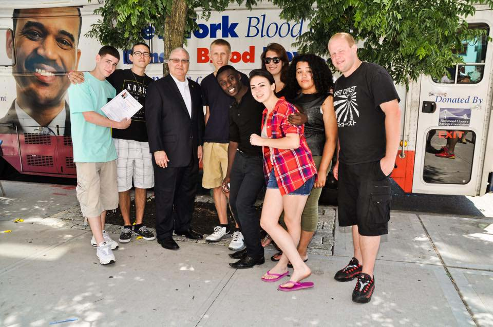 Assemblyman Cymbrowitz with members of Dynamic Youth Community, who volunteered for the annual blood drive he sponsored on Emmons Avenue and Sheepshead Bay Road in partnership with the New York Blood Center.