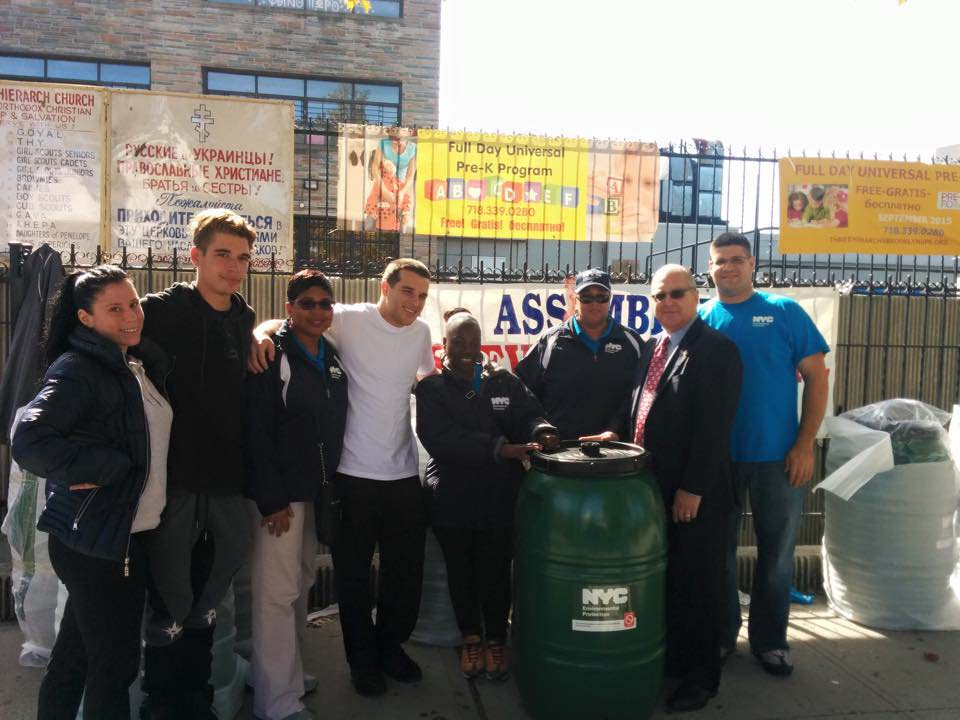 During an event at Three Hierarchs Greek Orthodox Church, Assemblyman Cymbrowitz distributed more than 150 rain barrels to homeowners, in partnership with the New York City Department of Environmental Protection. The barrels collect rainwater, which can be used to water your lawn, wash your car, and other purposes, and can keep excess water out of our sewer system during rainstorms and save homeowners money.