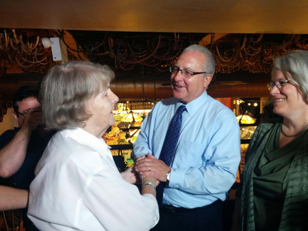 Assemblyman Cymbrowitz joined his colleague, Assemblywoman Helene Weinstein, in distributing Rosh Hashanah food packages with the Be Proud Foundation and Cherry Hill Gourmet to needy seniors in the 45th Assembly District. They are pictured with Anastasia (left), a World War II veteran who served as a nurse both in Europe and Japan and received medals for saving 41 soldiers in a single battle.