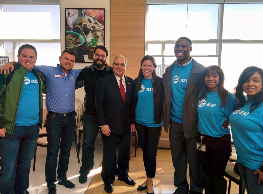 Assemblyman Cymbrowitz, Chairman of the Assembly's Aging Committee, joined representatives from AT&T at the Sephardic Community Center for AT&T's Digital You program, which educated seniors on how to