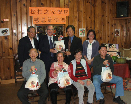 Once again this year Assemblyman Cymbrowitz attempted to brighten Thanksgiving for some of his senior constituents by giving away either gift cards for Turkeys or Frozen Turkeys through raffles at senior centers. Here he is pictured with the winners at Homecrest Community Services Senior Center and (L-R) Richard P. Kuo, Executive Director, Don Lee, Chairman of the Board and Tiphaine Tsang, Program Director.