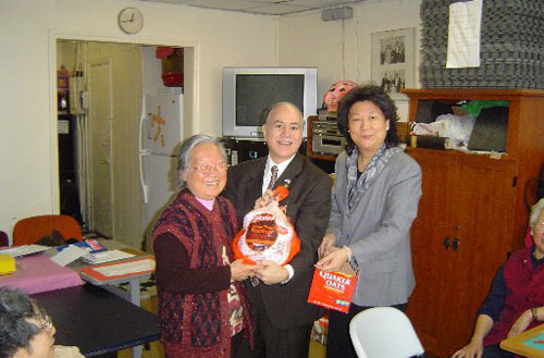 "Every year Assemblyman Colton donates turkeys to some of the senior centers in his neighborhood. It is Assemblyman Colton's way of giving ""thanks"" and good will to the elderly population in the community."
