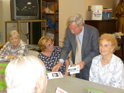 Assemblyman Abbate often visits senior centers throughout