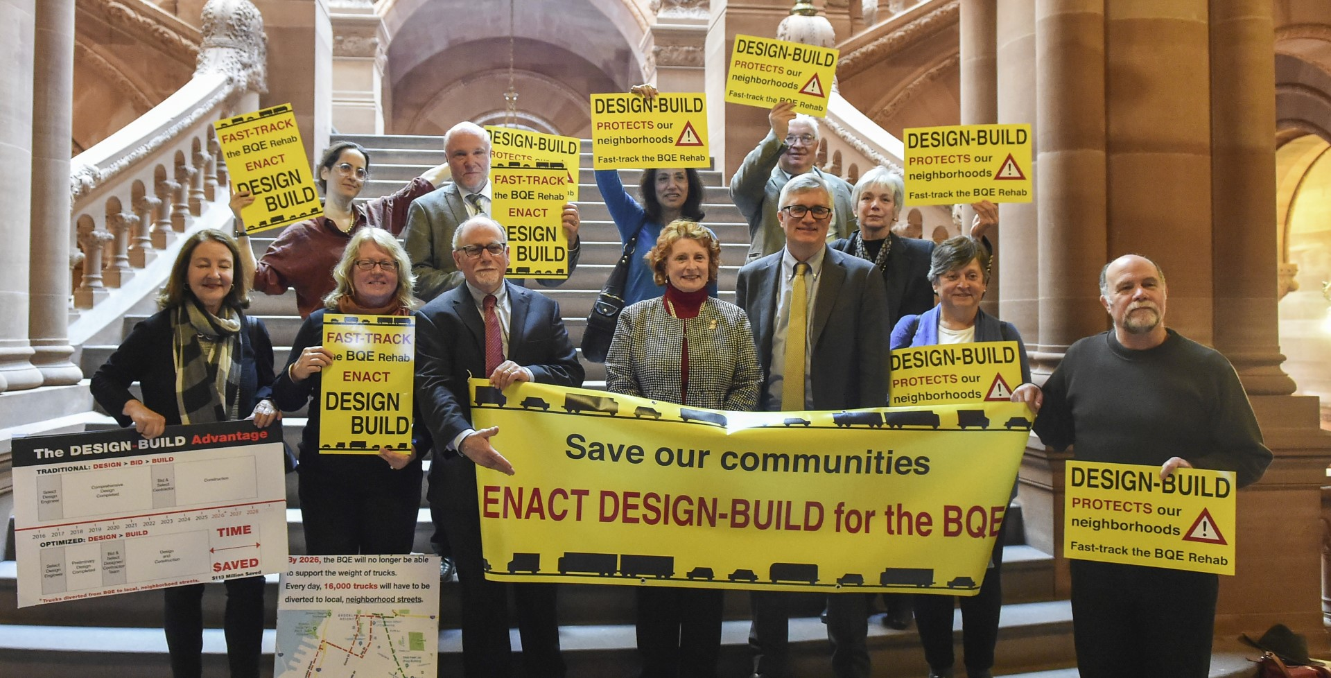 Assemblymember Simon and the Brooklyn Heights Association call for design-build authorization for the BQE repairs.<br />&nbsp;
