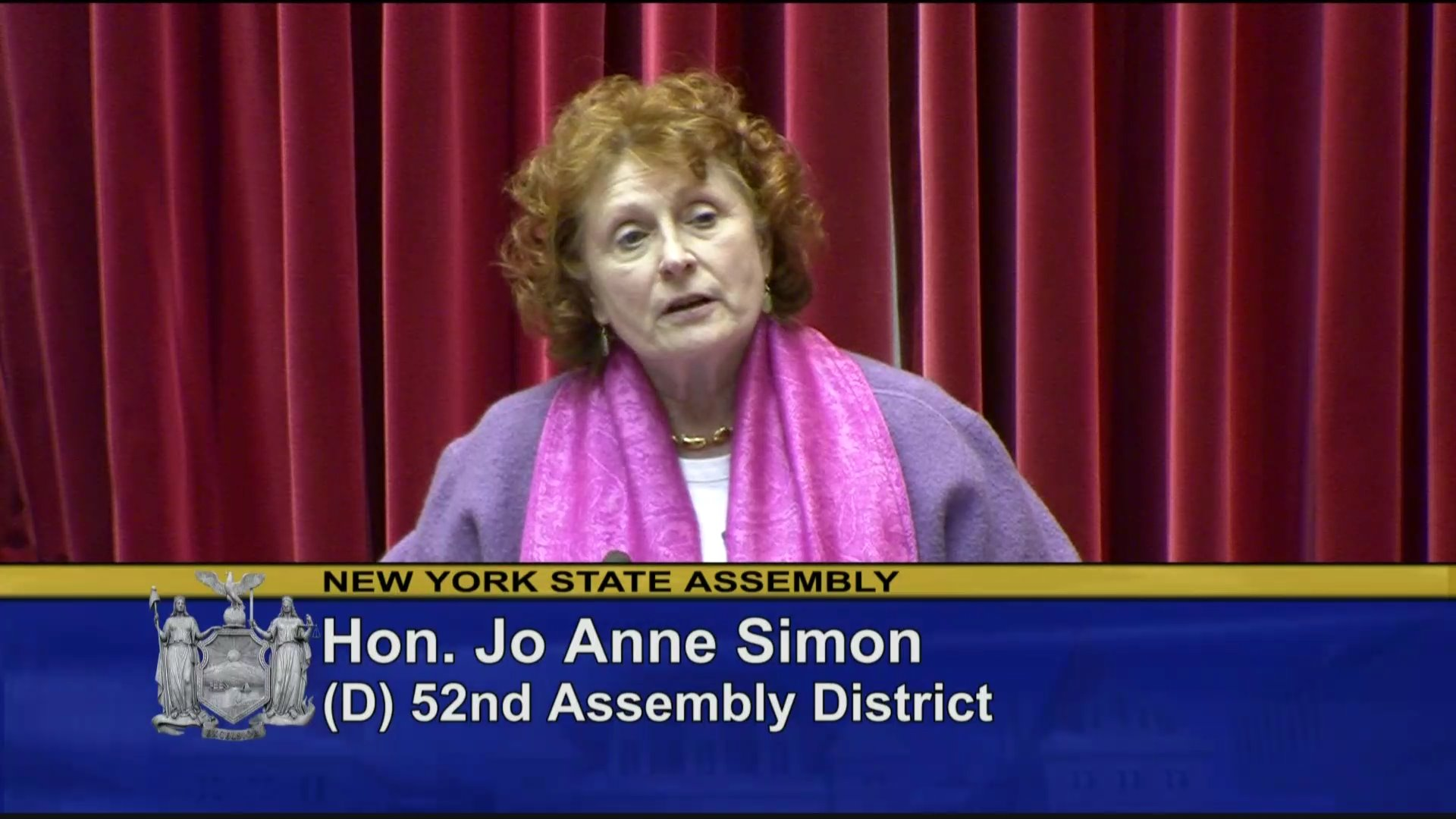 Assemblywoman Simon Supports Women's Reproductive Health Act