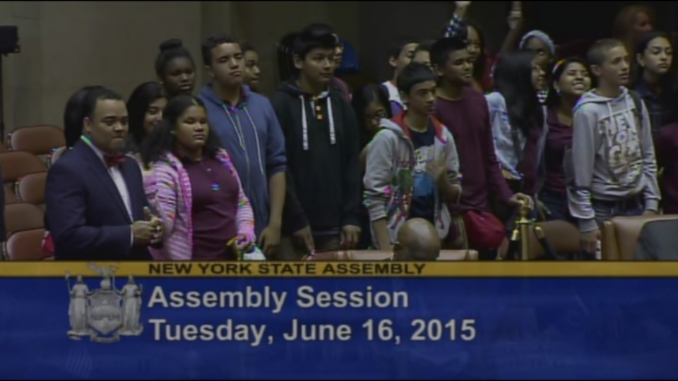 Welcoming I.S. 171 to the Assembly Chamber