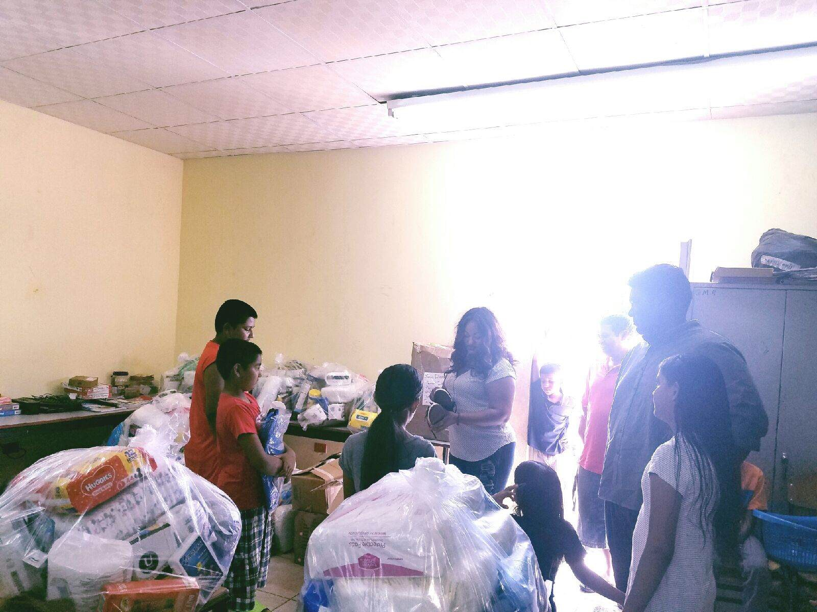 Trinidad Relief Efforts in conjunction with Pastor Tommy Ishamel at the Las Lomas Elementary School.