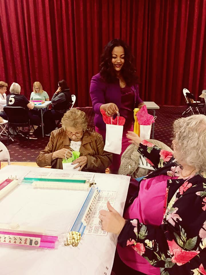 Making a special Mother's Day visit to our Mill Basin Senior Center.