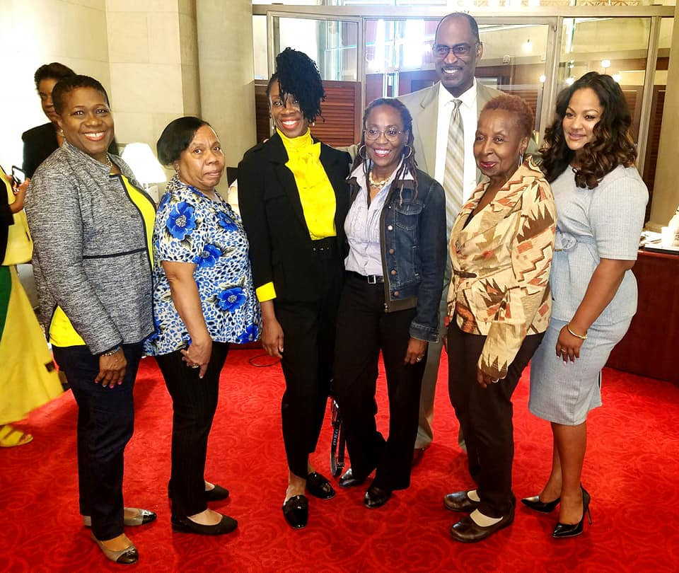 Celebrating Caribbean Heritage Month with colleagues and representatives for Trinidad and Tobago, St. Vincent, Guyana, Dominican Republic, Dominica and Jamaica.
